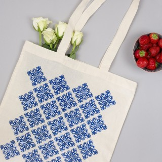 Geometric Blue Tote Bag