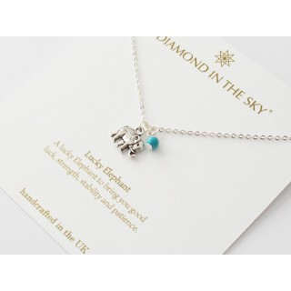 Lucky Elephant Necklace Gift Card