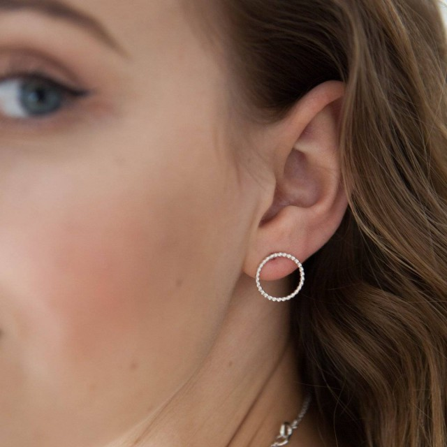 By The Light Matte Circle Earrings