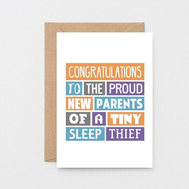 SixElevenCreations-New Baby Card-SE0019A6-Kraft