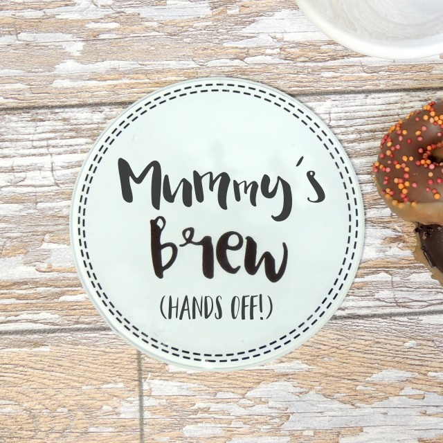 Mummy Brew (hands Off) Glass Coaster