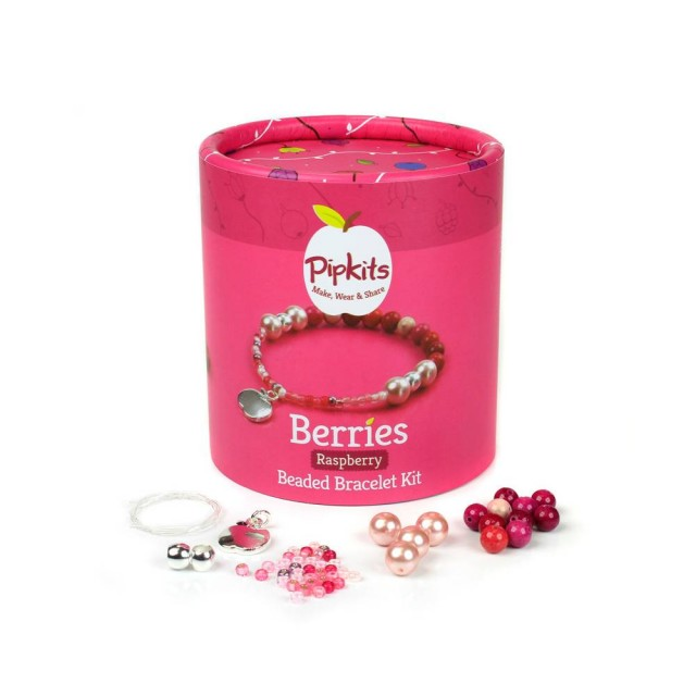 Berries Beaded Bracelet Bracelet Pipkit Raspberry