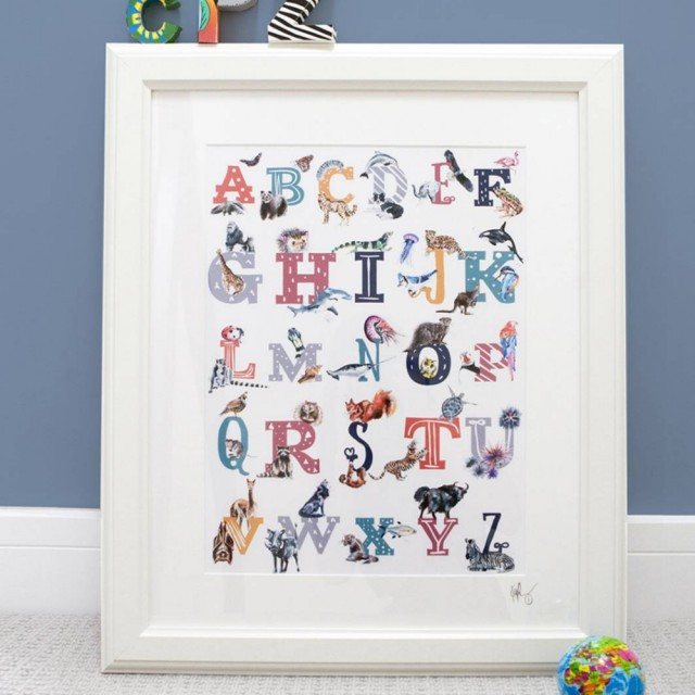 Inky Alphabet A To Z Unframed A4 Archival Print