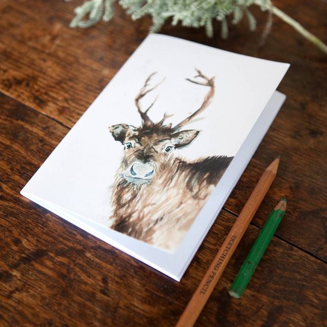 Inky Reindeer Eco-friendly A6 Notebook