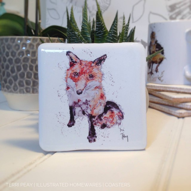Handcrafted 'Fox' Coaster