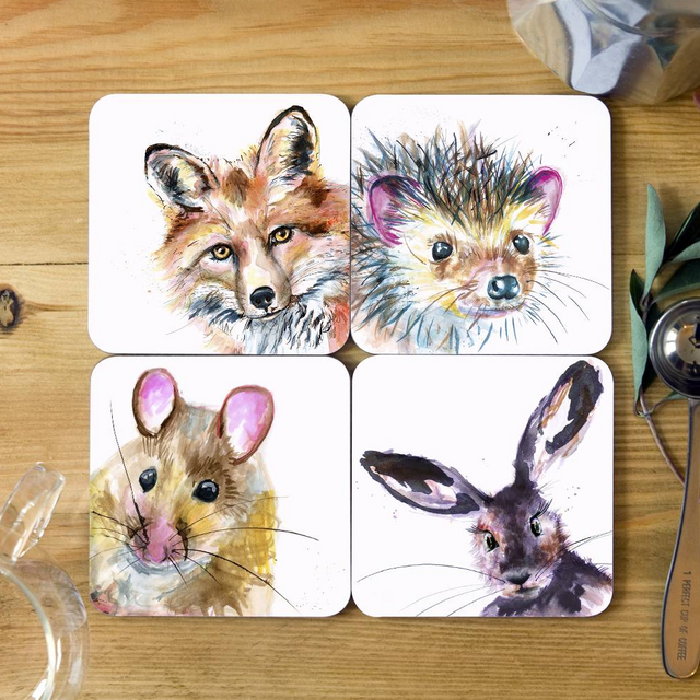 Inky Wildlife Collection Coasters