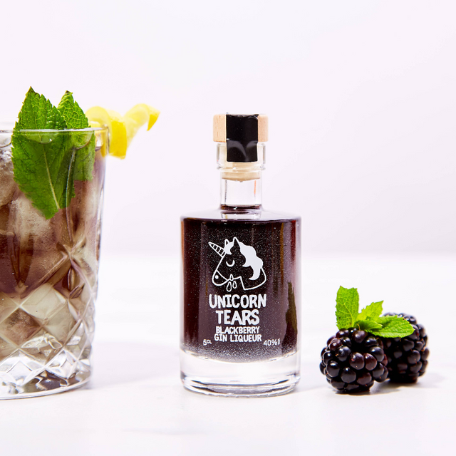 Unicorn Tears Blackberry Gin Liqueur Miniature