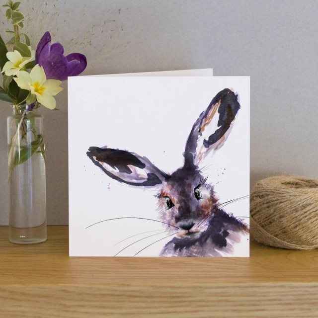 Inky Hare Greeting Card
