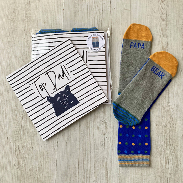 Father's Day Greetings Card With Men's Socks