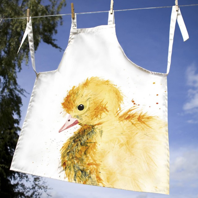 Inky Duckling 100% Canvas Adult Apron