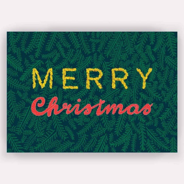 A6 Greetings Card 'merry Christmas'