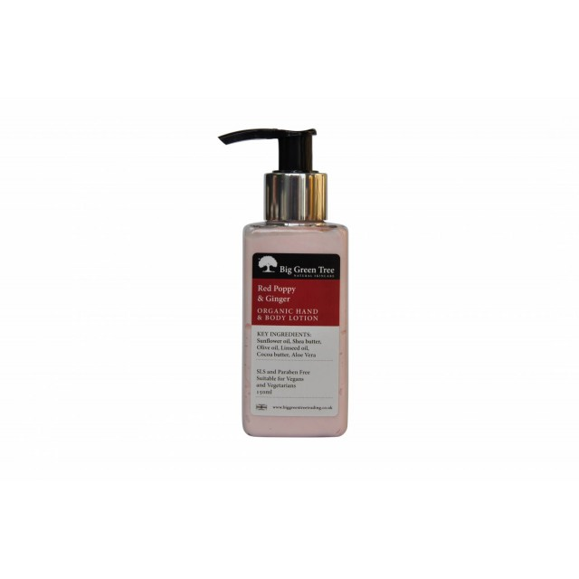 Red Poppy And Ginger Organic Hand And Body Lotion 150ml