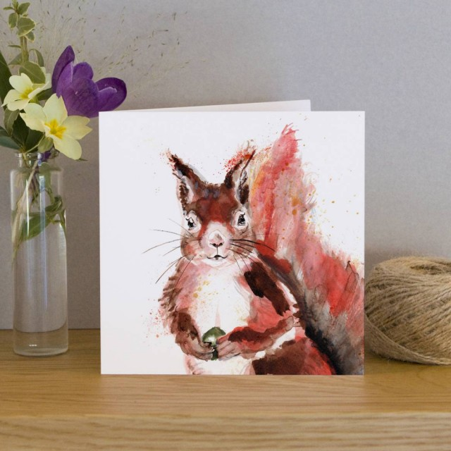 Inky Squirrel Greeting Card
