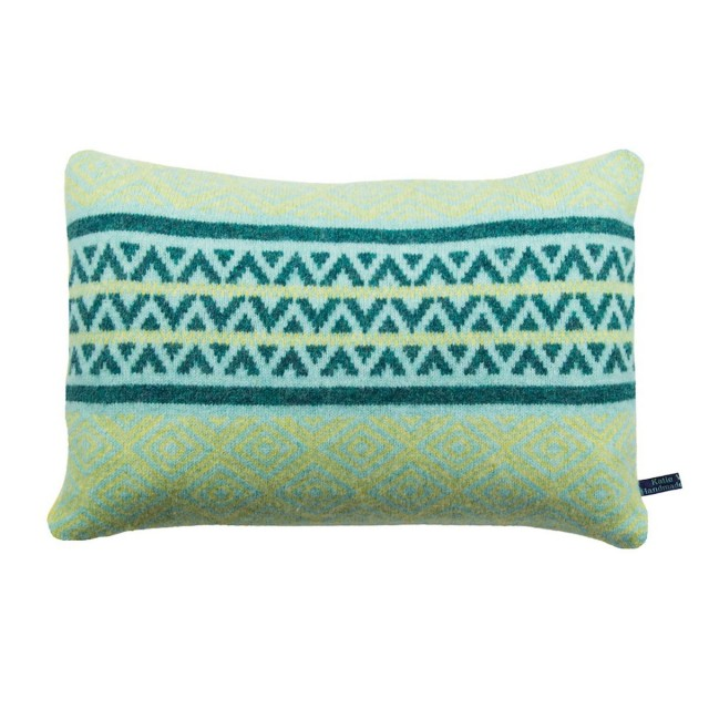 Geometric tile stripe cushion