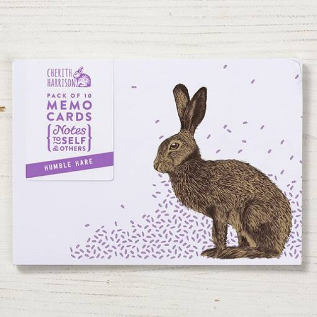 Hare Note Cards - 10pck