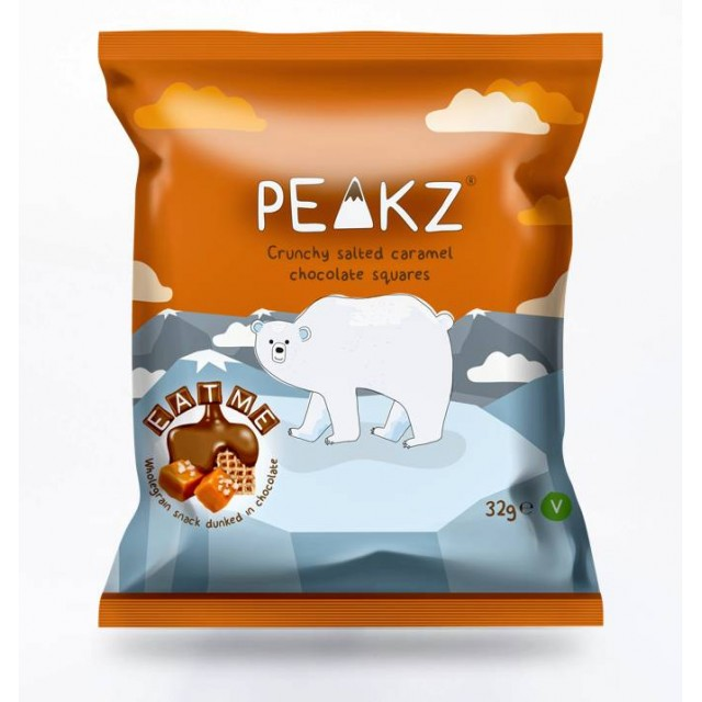 Peakz - Crunchy Salted Caramel Squares