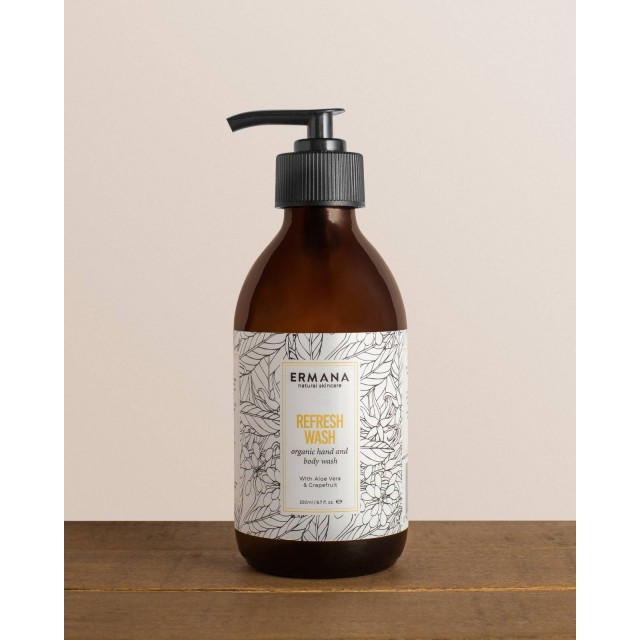 Refresh Organic Hand & Body Wash 250ml