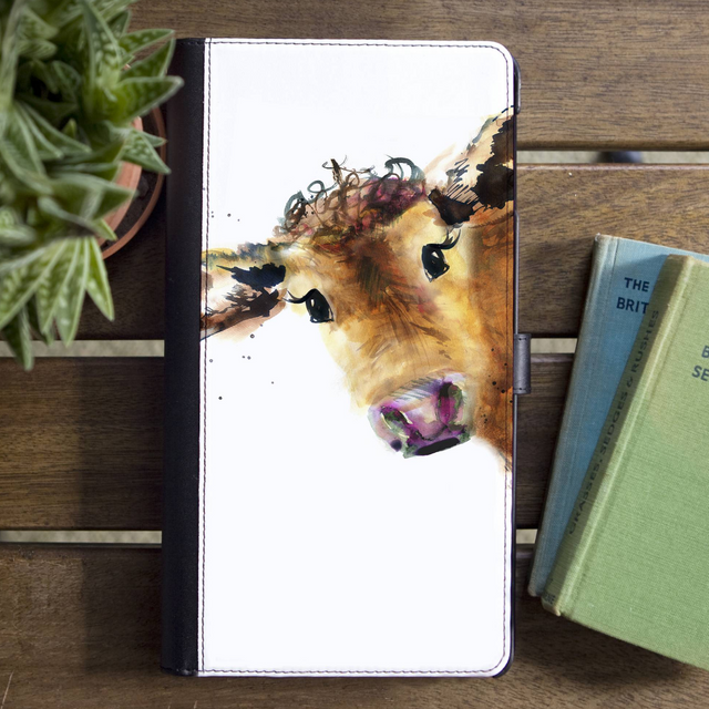 Inky Cow Faux Leather Iphone X Case With Card Slot