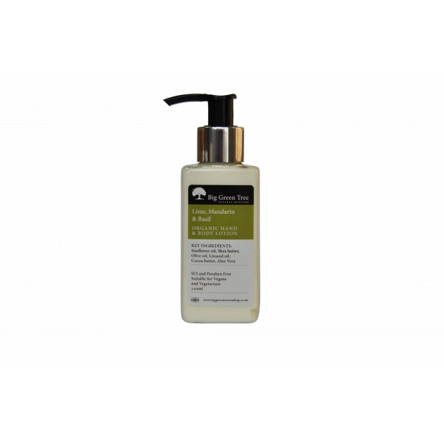 Lime Mandarin Basil Organic Hand And Body Lotion 150ml