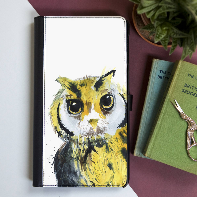 Inky Owl Faux Leather Iphone X Case With Cardslots