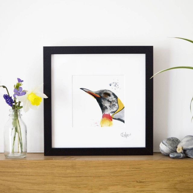 Inky Penguin Framed Print