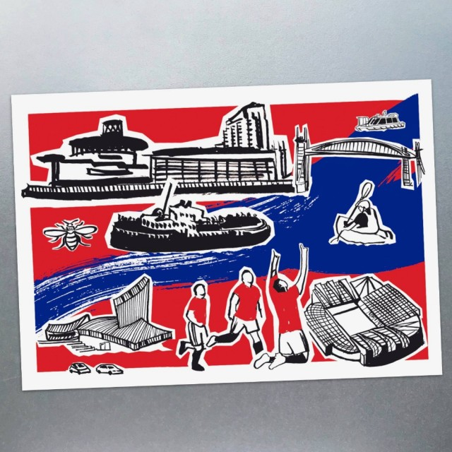 Features Of Salford Quays Postcard