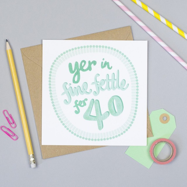 Fine Fettle 40th Yorkshire Birthday Card
