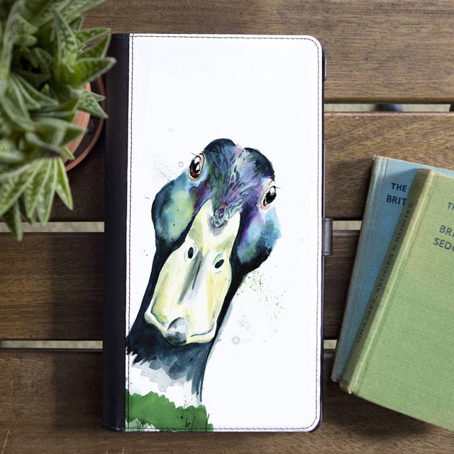 Inky Mallard Faux Leather Wallet Iphone X Case