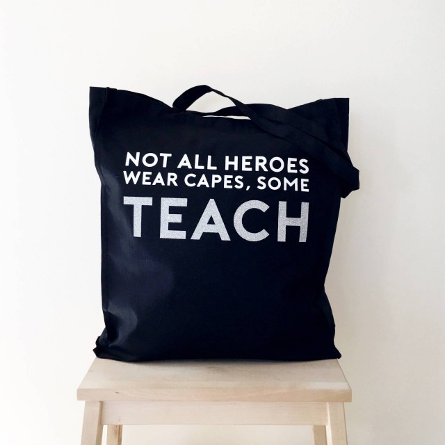 Superhero Teacher Tote Bag