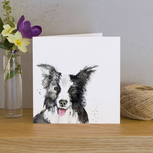 Inky Dog Greeting Card