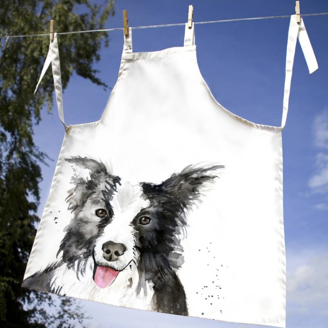 Inky Dog 100% Canvas Adult Apron