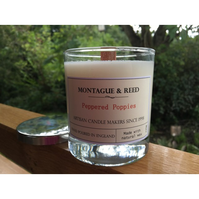 Candle Peppered Poppies