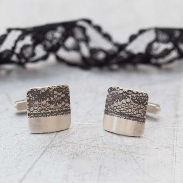 Black Lace Cufflinks