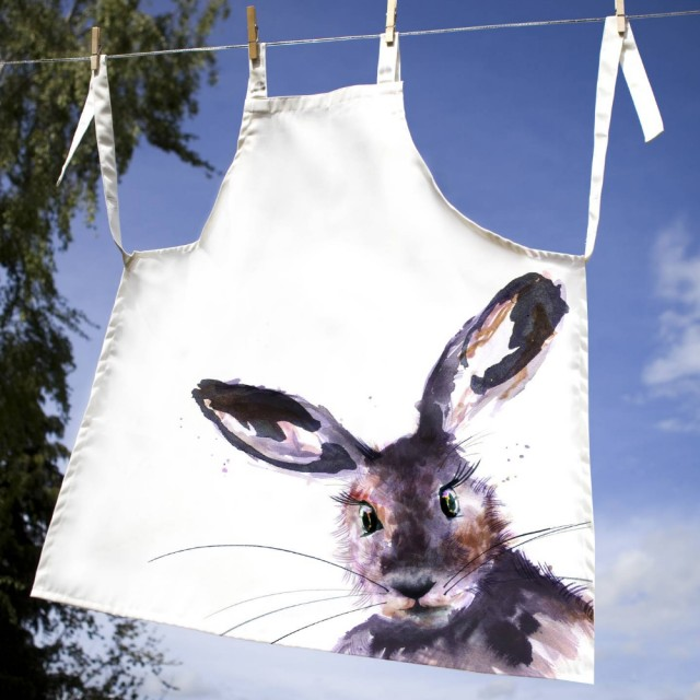 Inky Hare 100% Canvas Adult Apron