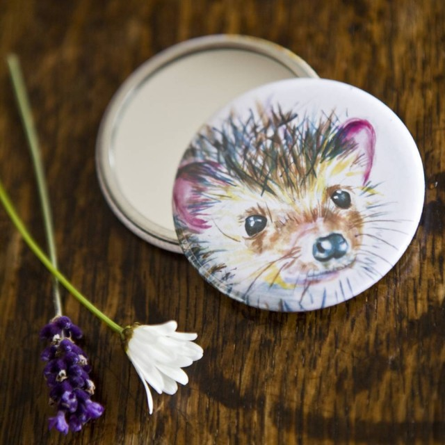 Inky Hedgehog Pocket Mirror