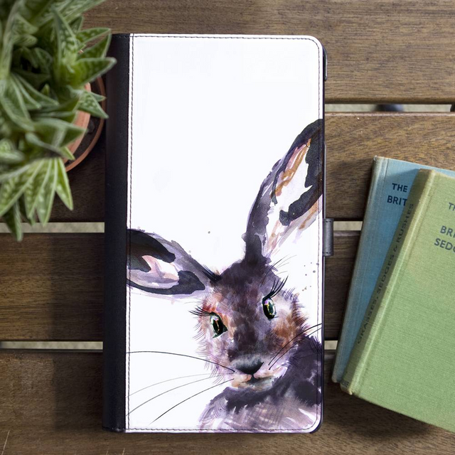 Inky Hare Faux Leather Iphone X Wallet Case