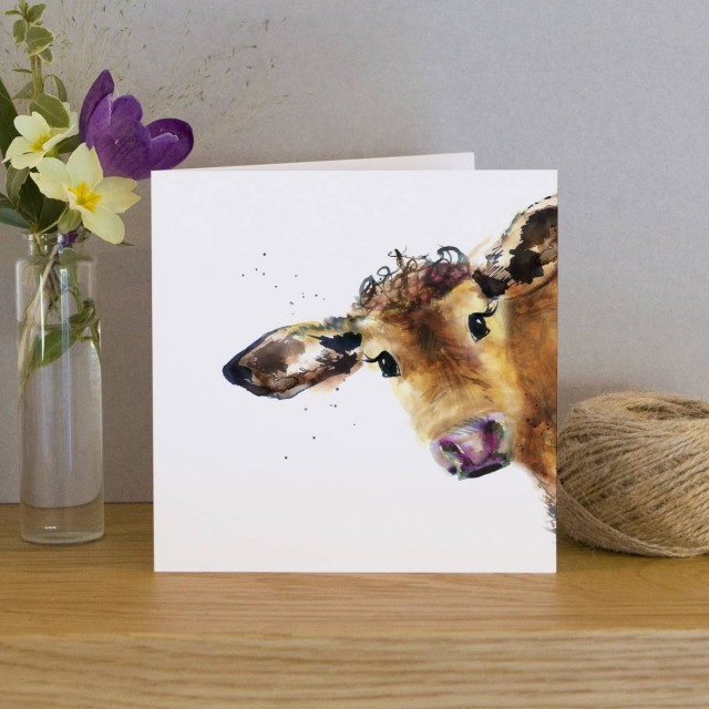 Inky Cow Greeting Card