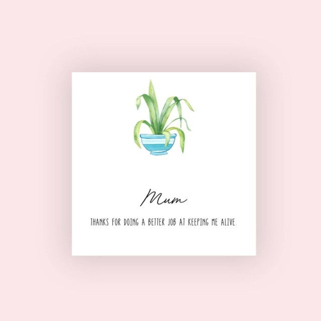 Green Fingered Mother's Day Card