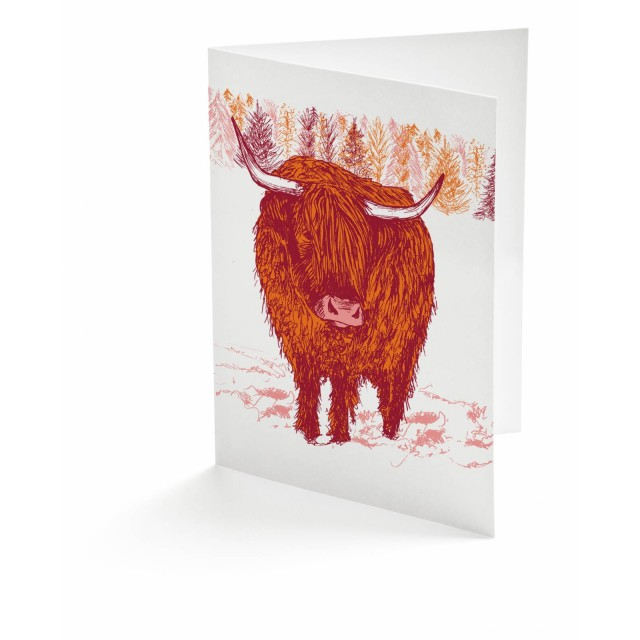 Highland Cow Greetings Card A6