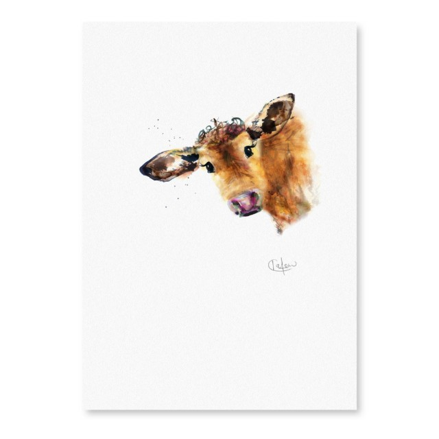 Inky Cow Unframed Print