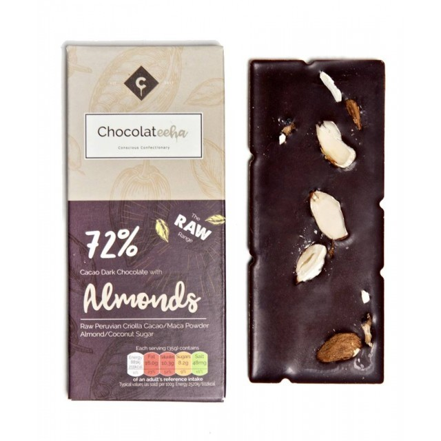Raw Dark Chocolate With Almond