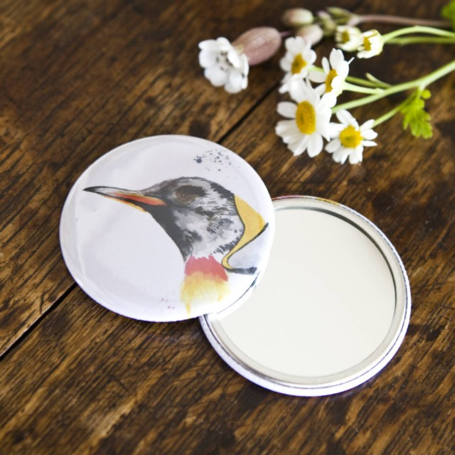 Inky Penguin Pocket Mirror