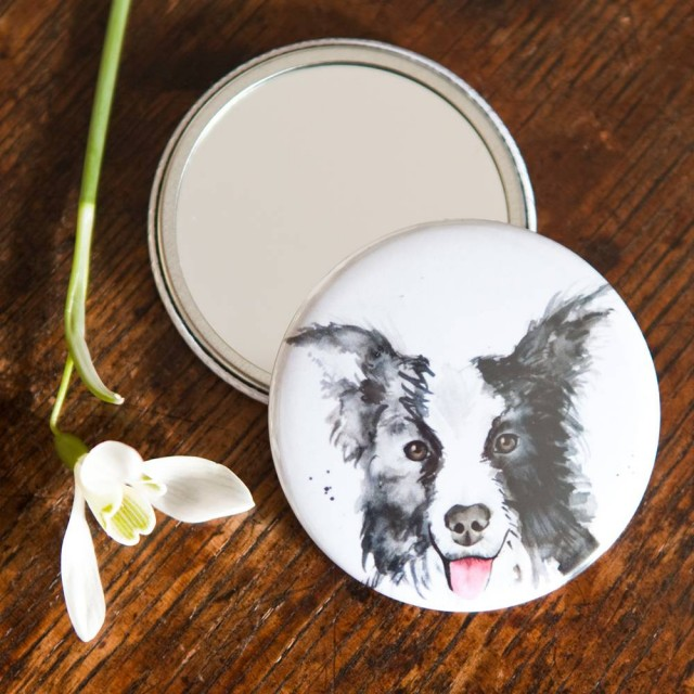 Inky Dog Pocket Mirror