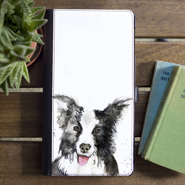 Inky Dog Faux Leather Iphone X Case With Card Slot