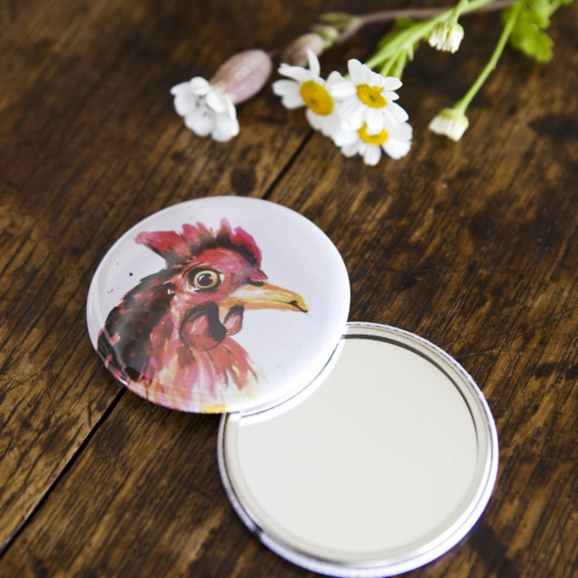 Inky Chicken Pocket Mirror