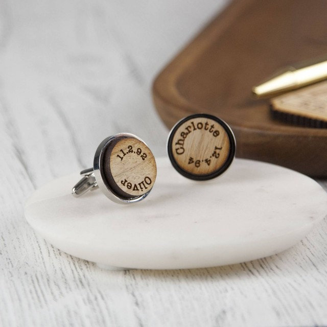 Wooden 'My Kids' Cufflinks
