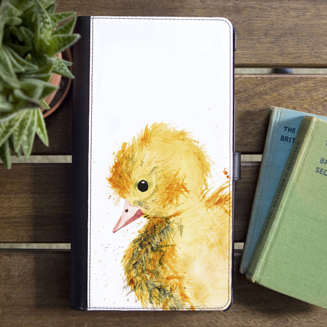 Inky Duckling Faux Leather Iphone X Case With Card