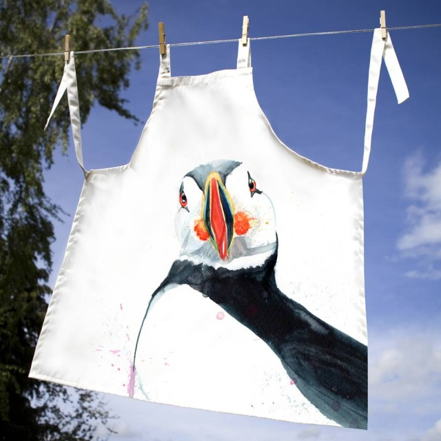 Inky Puffin 100% Canvas Adult Apron