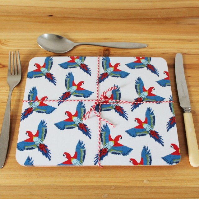 Majestic Macaw Placemat (set Of 4)
