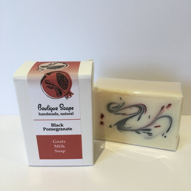 Black Pomegranate Goat's milk soap (pack of 6)